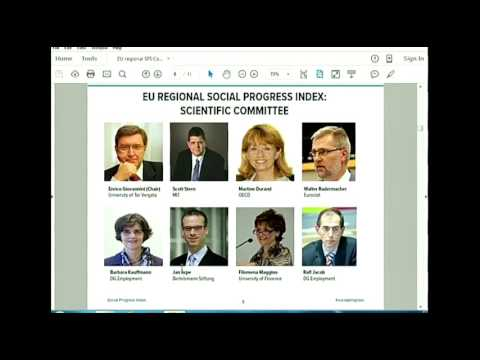 SPI CEO Michael Green's Presentation on the EU Regional Social Progress Index in Brussels