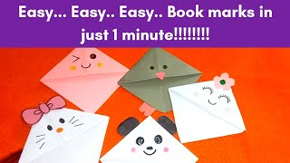 How to make book marks/in malayalam/paper craft/very easy bookmark making tutorial