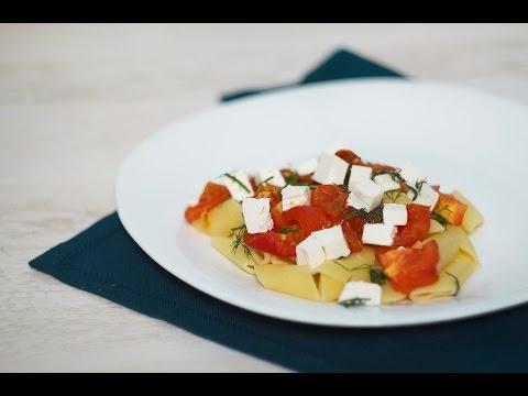 Рецепт Паста с запечеными помидорами  рецепты TastyDishes