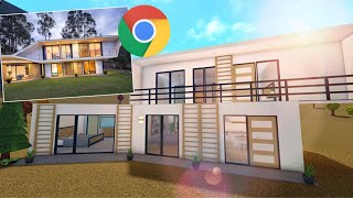 construí la primer casa que ENCONTRÉ en GOOGLE... (Bloxburg)