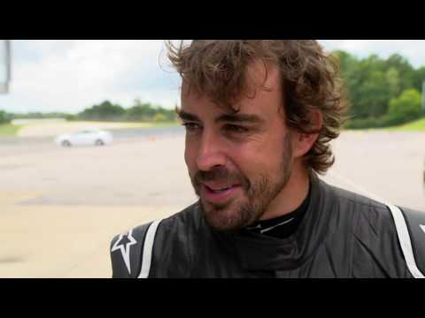 Fernando Alonso Tests at Barber Motorsports Park