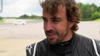 Fernando Alonso Tests at Barber Motorsports Park