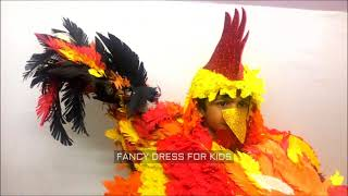 Cock animal fancy dress for kids / How to make / DIY