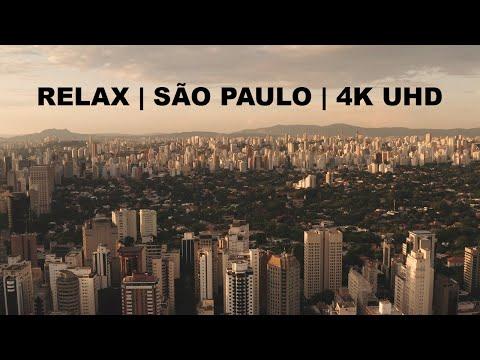 Relax Flying Over Sao Paulo Brazil | 4K UHD