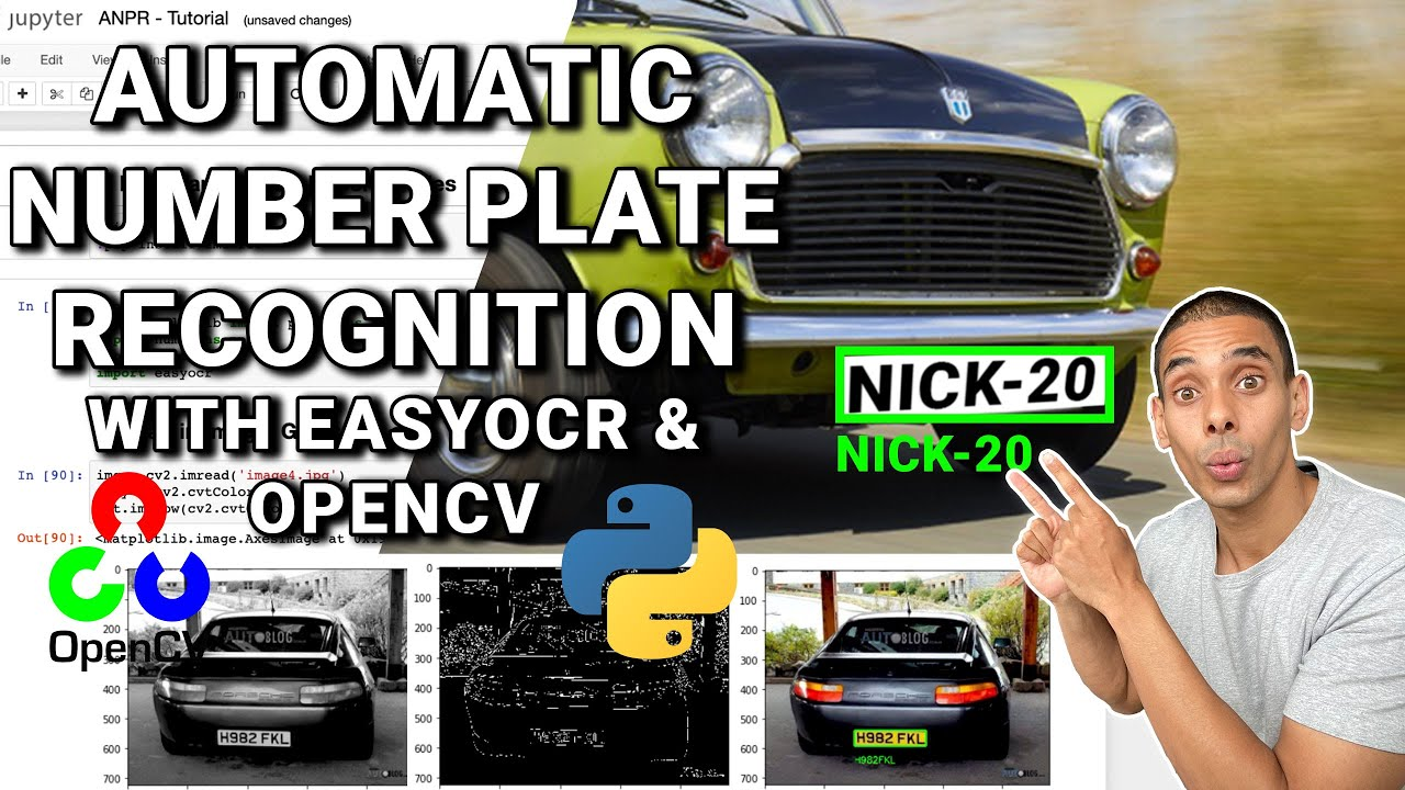 Automatic Number Plate Recognition with OpenCV and EasyOCR in 25 Minutes