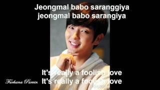 Foolish love - Lee Jun Ki ( with lyrics )