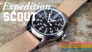 "Review: Timex Expedition Scout Watch ""Affordable Heritage Field Wristwatch"" Model T499629J"