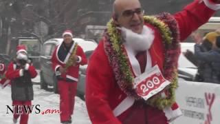 Ձմեռ պապիկների վազք Երեւանի կենտրոնական փողոցներով