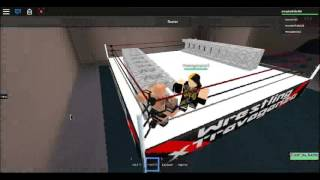 Roblox WWE 2K15 - Seth Rollins vs The Rock vs Sami Zayn (Ladder Match)
