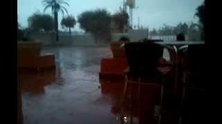 Orage & tempête de pluie à Djerba | Salsa Disco Djerba | 6.4.2013 | 18h12