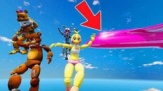 ANIMATRONICS JUMPING FROM PLANES! (GTA 5 Mods For Kids FNAF Funny Moments)