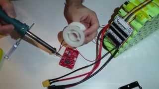 BMS installation on a 10s7p 36V 18650 li-ion battery pack (Live video)