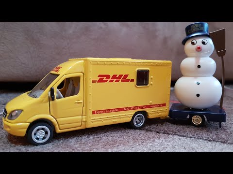 Video for Children Unboxing Toy Car Deutsche Post DHL Car and Truck