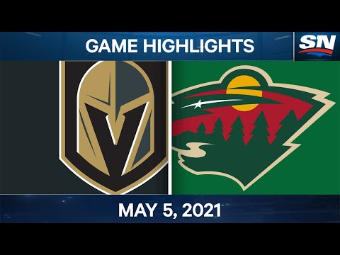 NHL Game Highlights | Golden Knights vs. Wild - May 5, 2021