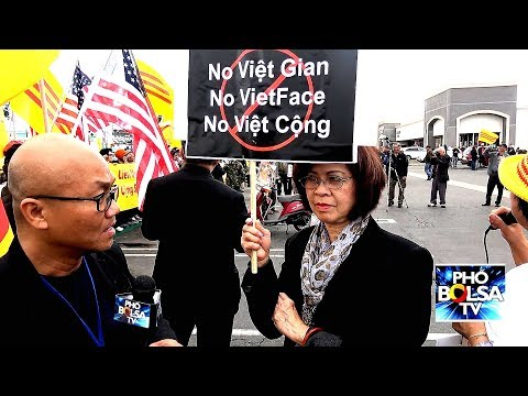 Little Saigon: Biểu tình phản đối Vietface TV cộng tác với TH Vĩnh Long - P2