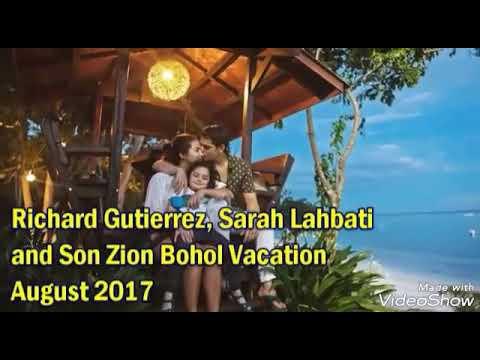 Sarah Lahbati, Ritchard Gutierrez and Son Zion Nasa Bohol Nag Family Vacation