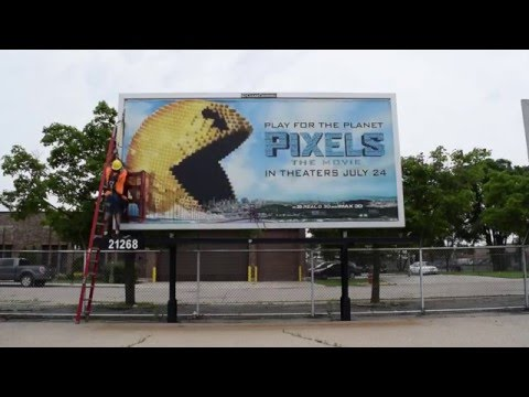 Clear Channel Outdoor Poster Billboard Install