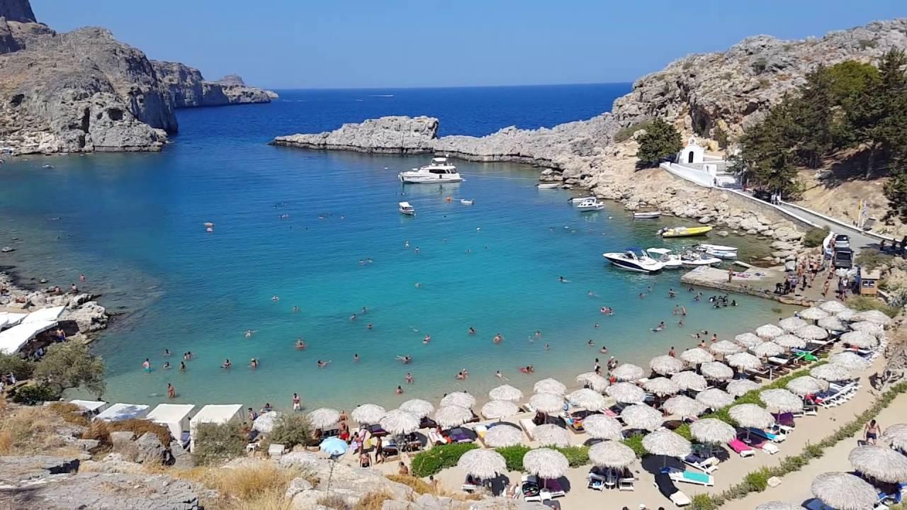 St Pauls Beach (Agios Pavlos Beach) Lindos Rhodes ...