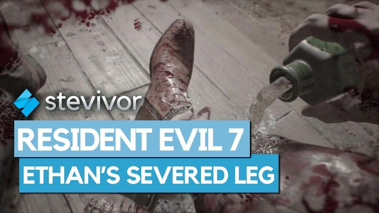 Resident Evil 7 Jack Baker Severs Ethan Winters Leg Stevivor