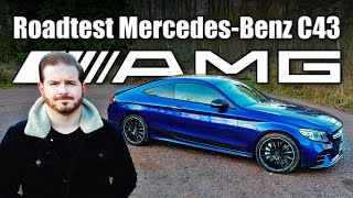 Mercedes-Benz C43 AMG Coupe Road Test Review Facelift C-class Blue 4x4 2020