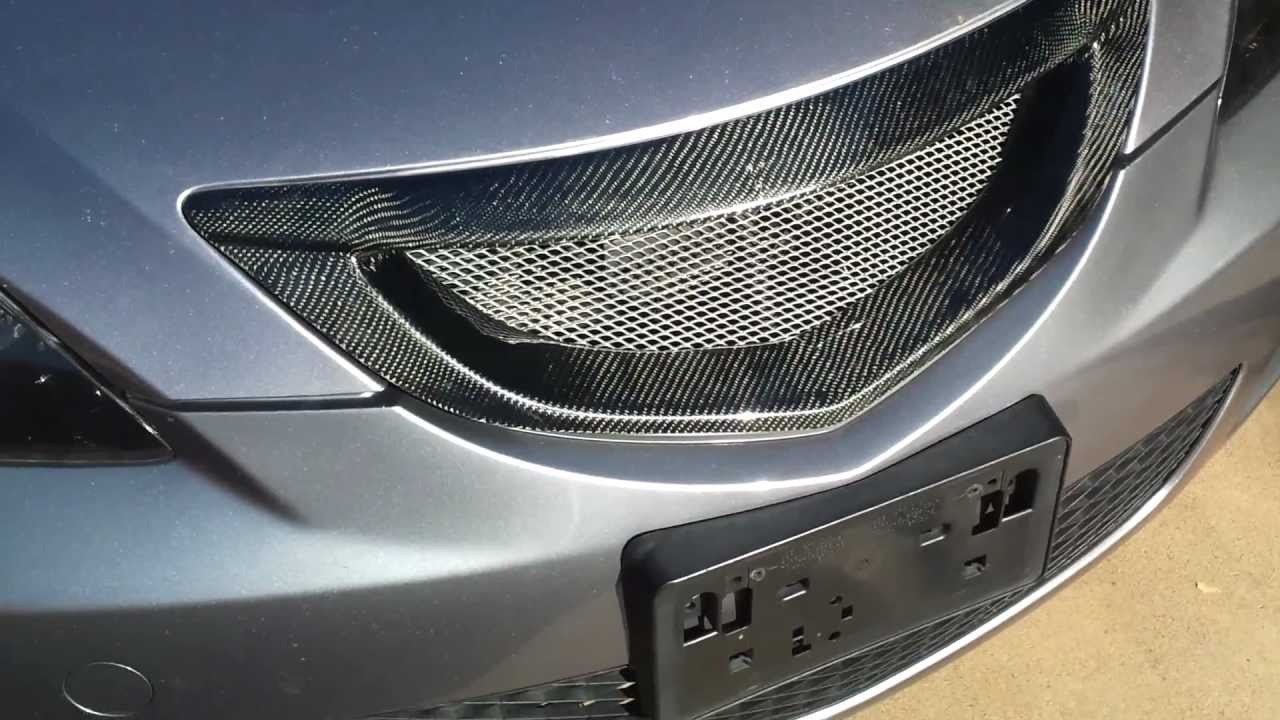 05 mazda 3 carbon fiber grille youtube. Black Bedroom Furniture Sets. Home Design Ideas