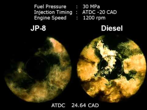 JP8 vs Diesel in HSDI engine
