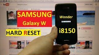 hard reset Samsung i8150 Сброс графического ключа samsung i8150 galaxy w
