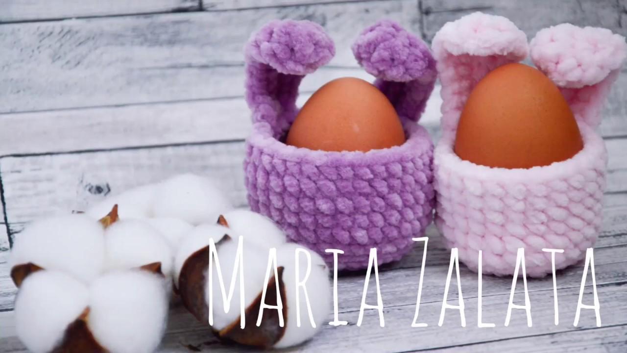 Пасхальный декор / Мастер класс вязаное украшение для яйца