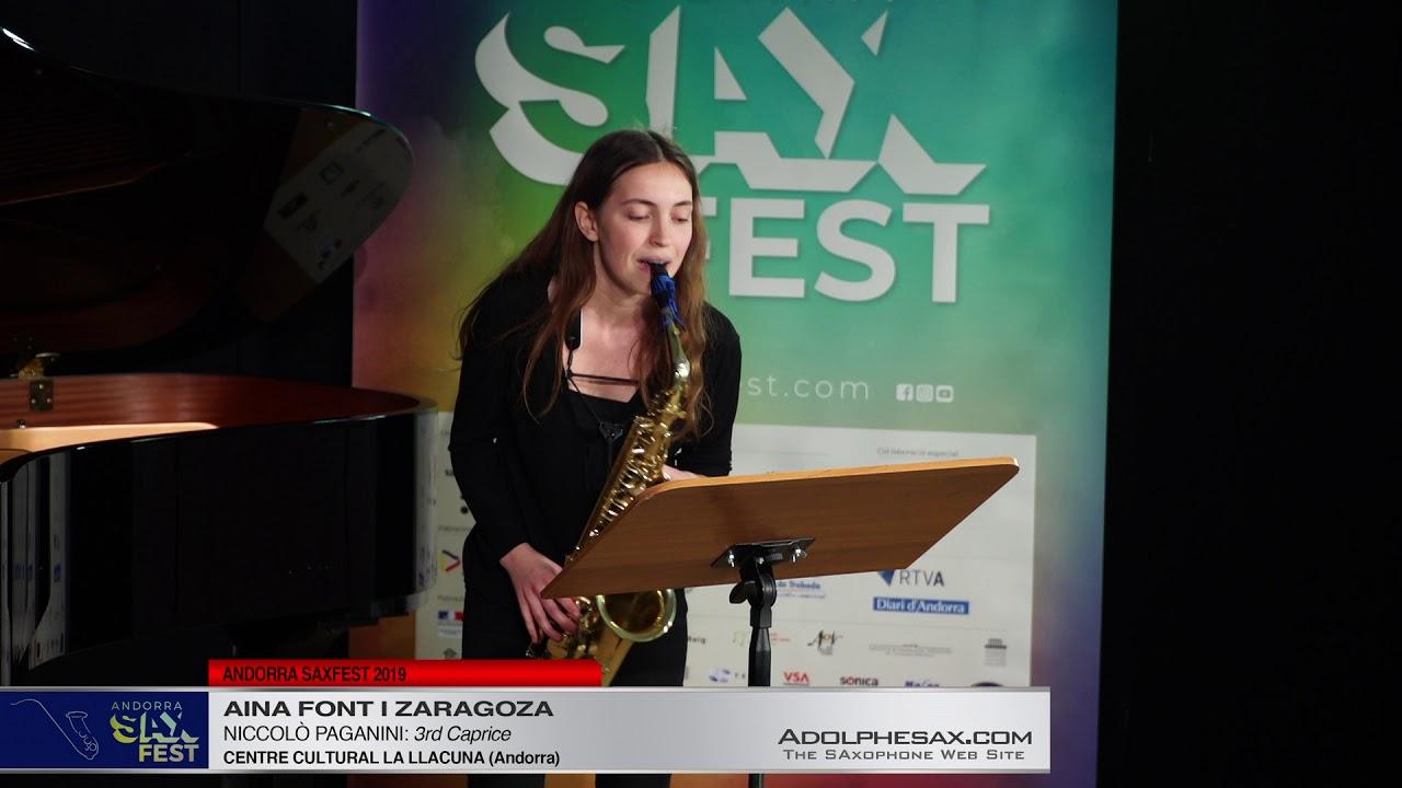 Andorra SaxFest 2019 1st Round   Aina Font i Zaragoza   3rd Caprice by Niccolo Paganini