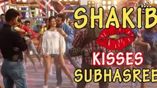 Shakib Kisses Subhasree  Nabab-Unseen Shots  Soloana  Shakib Khan  Subhasree Ganguli