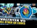 VALTRYEK V5 GAMEPLAY + ALL VALTRYEK QR CODES + ZANKYE COLLAB! BEYBLADE BURST TURBO APP