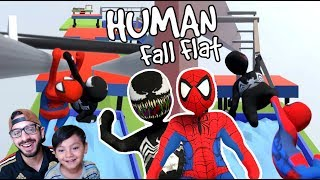 El Mas Fuerte del Mundo de Plastilina | Spiderman en Human Fall Flat | Juegos Karim Juega