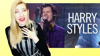 Vocal Coach/Musician Reacts: HARRY STYLES Adore You Live on The Late Late Show with James Corden