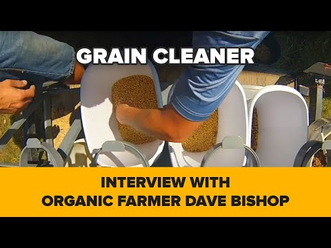 "Interview with organic farmer Dave Bishop, about grain cleaner ""Almaz"". Atlanta, Illinois"