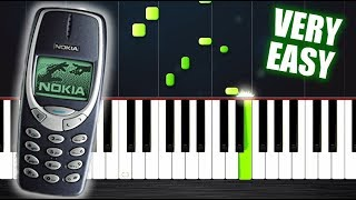 Nokia Ringtone but it's VERY EASY Piano Tutorial by PlutaX