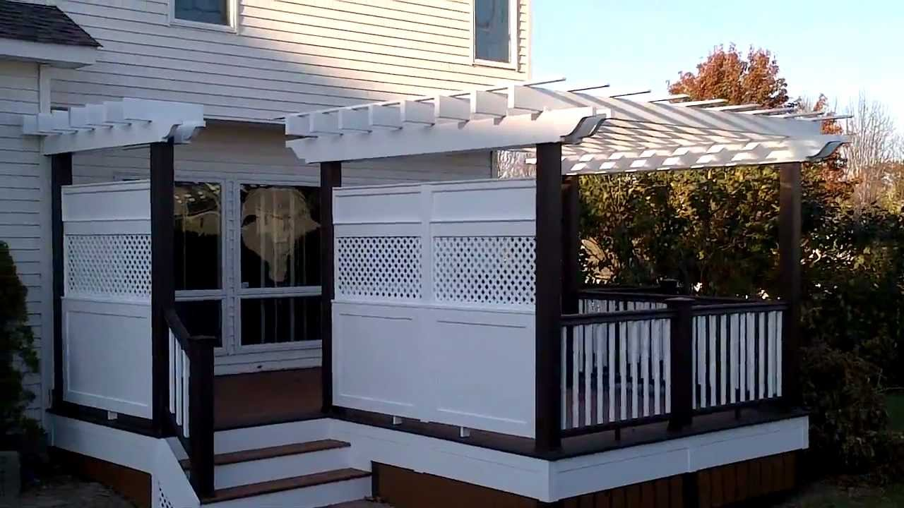 Deck Builder One Of A Kind With Custom Privacy Walls And Pergola Designed By Sean Mcaleer You