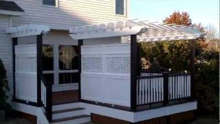 """deck Builder"" One Of A Kind Deck With Custom Privacy Walls And Pergola Designed By Sean Mcaleer"