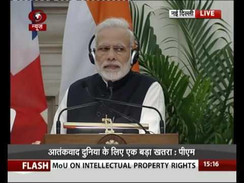 PM Modi at joint press statement with UK PM Theresa May