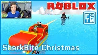 I GUESS THE SHARK GOT COAL FOR CHRISTMAS :D Roblox SharkBite Christmas Update