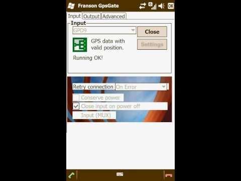 Configuring TomTom Navigator Version 7.910(9185)+ Franson GpsGate on Toshiba TG01 winmo 6.5 Pro