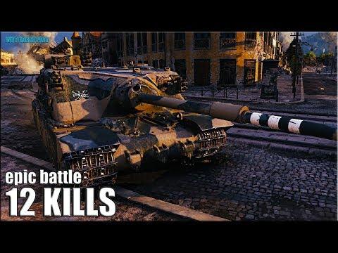 ЖЕСТЬ!!! Tortoise против ТОЛПЫ))) 12 фрагов World of Tanks thumbnail