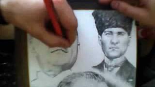 Mustafa Kemal Atatürk - Karakalem Çizim