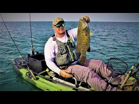 Smallmouth Bass Kayak Fishing Lake Erie Out Of The Wind