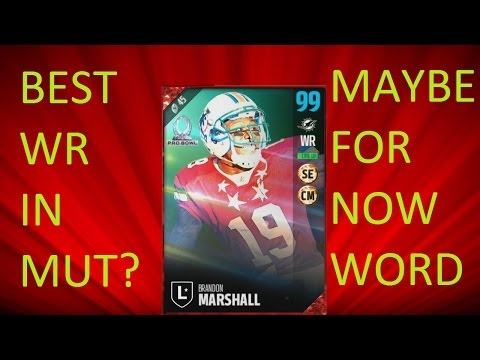 How Good is 96 overall Brandon Marshall? - Madden 17 Ultimate Team