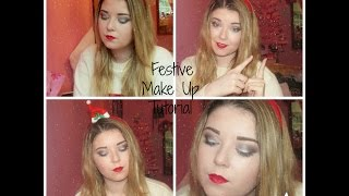 Festive Collab Tutorial | Silver and Black Smoky Eye Thumbnail