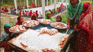 175 pounds giant bengali cake making by 15 women to feed whole village people