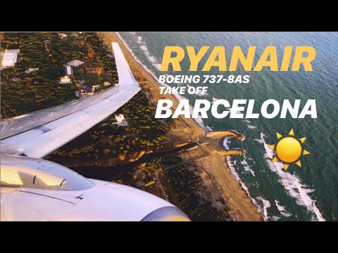 Ryanair Boeing 737-800 - Barcelona - Sunset Take Off