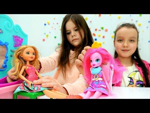 Салон красоты для Кукол 💄 Куклы Барби, Эшлин Элла и Пинки Пай / Видео для Девочек Мультик с куклами