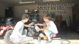 easy empty a motorcycle gas tank