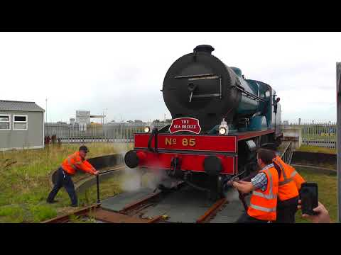 RPSI's 85 'Merlin's'' first ever visit to Rosslare, Including train failure, 06/08/2018